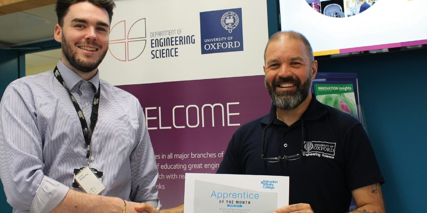 Apprentice of the Month, April 2019: Darren Soden