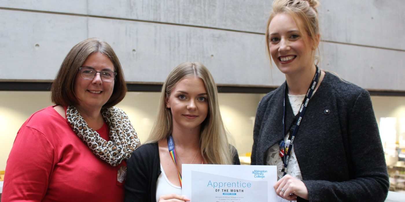 Apprentice of the Month, August 2019: Charlotte Parish
