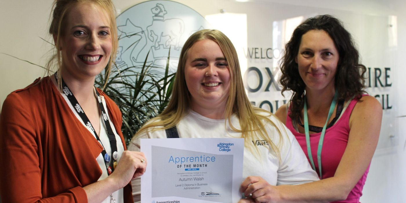 Apprentice of the Month, July 2019: Autum Walsh